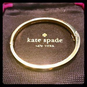 Kate Spade Black enamel with gold tone bracelet♠️